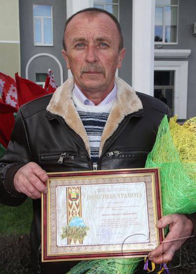 ■ На «Дожинках» чествовали водителя ОАО «Копыльское» Михаила Ритько
