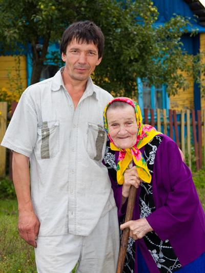 ■ Станіслаў Цвірка разам з мамай Станіславай Адольфаўнай