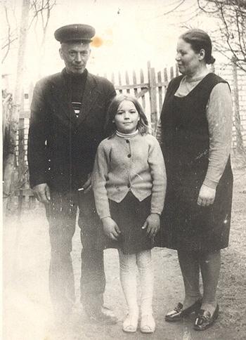 ■ Иосиф и Янина с младшей дочерью Татьяной, 60-е годы ХХ века