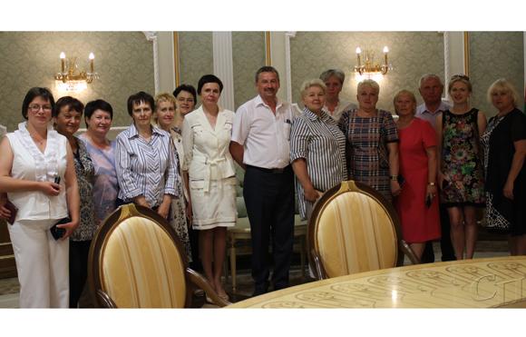 Делегация Копыльского района посетила Дворец Независимости