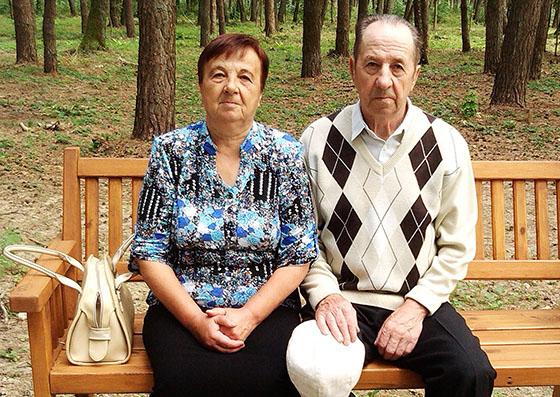 Мария Степановна и Николай Николаевич Горощени