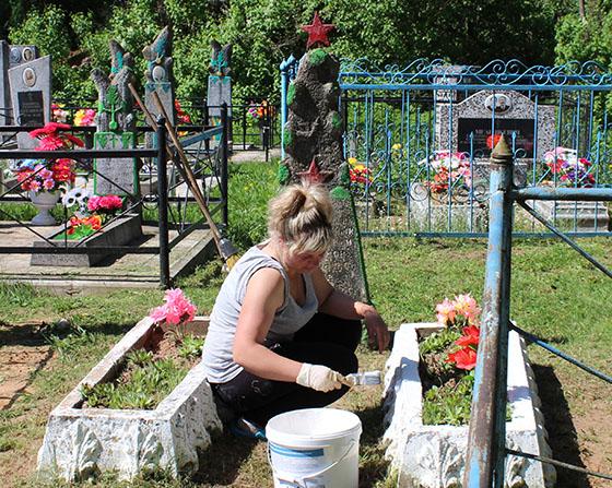 На Копыльщине поддерживают порядок на воинских захоронениях, у братских могил и в других памятных местах
