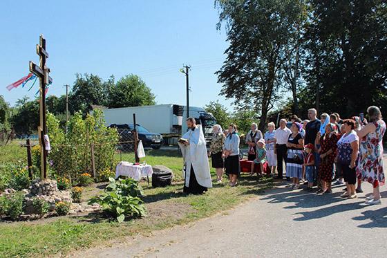 ■ Обряд освящения поклонного креста в д. Мацкевичи