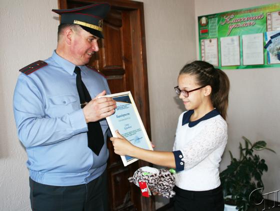 Пятиклассницы из Копыля приняли участие в конкурсе «Семья! Служим вместе!»