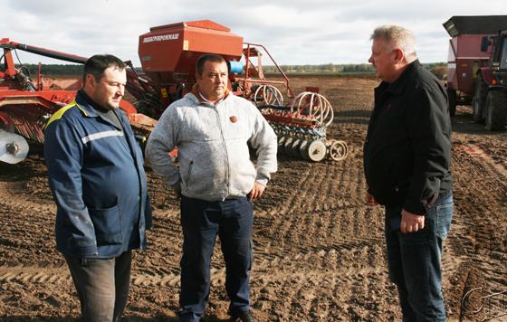 На Копыльщине активно ведется сев озимых зерновых культур