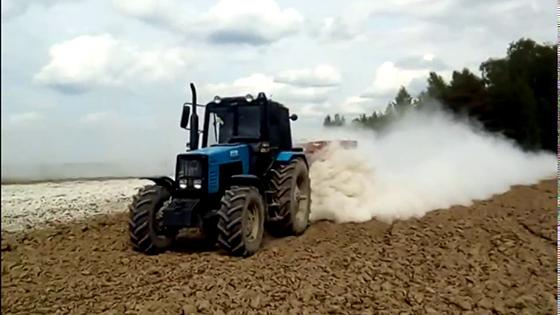 В хозяйствах Копыльского района ведется известкование почв