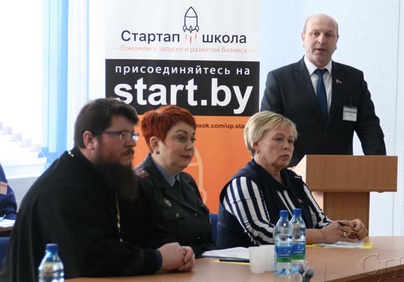 ■ Отец Сергий, Наталья Шах, Ольга Куприенко и Анатолий Петкевич