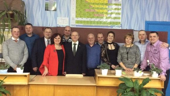 Выпускники и учителя Слободокучинской СШ 20 лет спустя