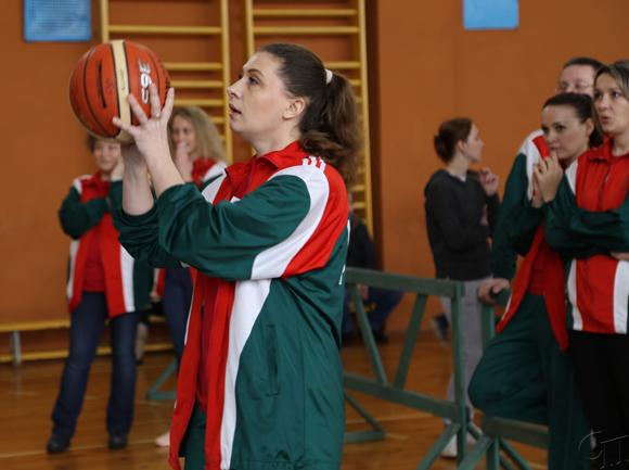 ■ В баскетбольном конкурсе Юлия Григоревич оказалась одной из самых метких