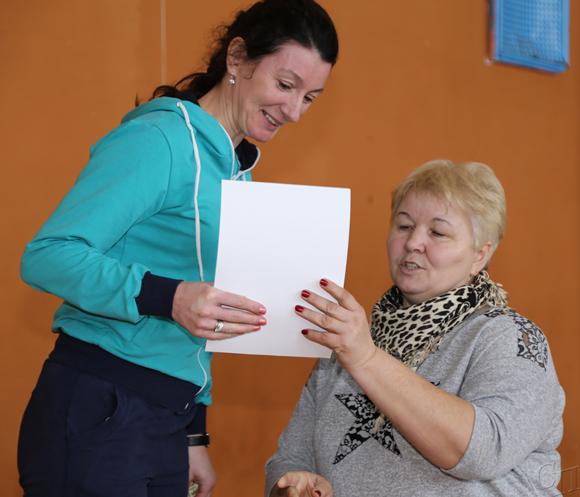 ■ Ирина Кисляк во время чествования победителей