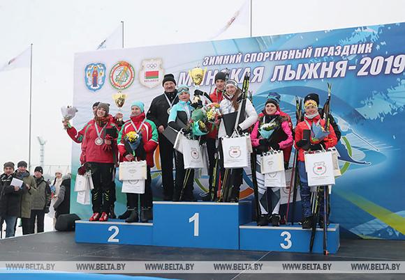 Команда Президента Беларуси победила в эстафете на «Минской лыжне»