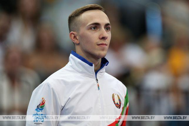 Белорус Владислав Гончаров стал чемпионом в индивидуальном турнире по прыжкам на батуте II Европейских игр
