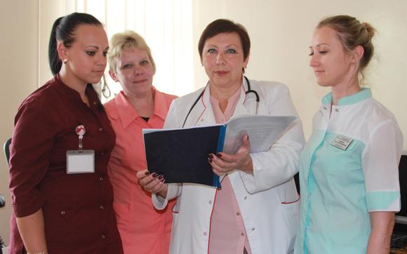 Медицинский персонал отделения функциональной диагностики Копыльской ЦРБ: вовремя найти — значит обезвредить
