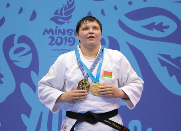 Белорусская спортсменка Марина Слуцкая завоевала золотую награду на турнире по дзюдо II Европейских игр