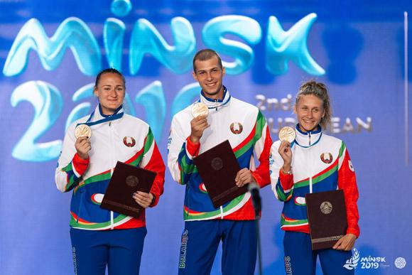 Впервые в ходе II Европейских игр медалистов соревнований награждали не после их окончания, а на следующий день